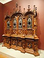 Bookcase, Bulkley and Herter manufacturer, Gustave Herter designer, Ernst Plassmann woodcarver, 1852-1853 - Nelson-Atkins Museum of Art - DSC09206.JPG