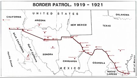 United States Army Border Air Patrol Wikipedia - Us southern border map
