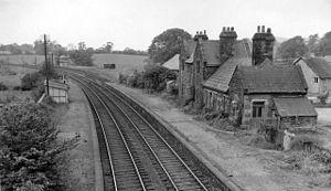Leeds–Morecambe line - Borwick Station in 1962