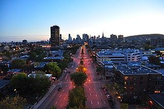 René Lévesque Boulevard street in Montreal, Quebec, Canada
