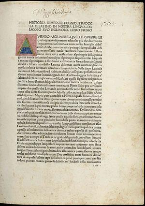 Poggio Bracciolini - Historia Florentina, 1478