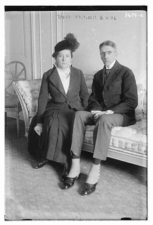 Brand Whitlock - Brand Whitlock and his wife in New York City in 1915