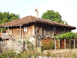 Typical Strandzha wooden house in Brashlyan