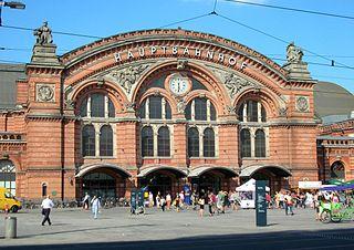 Bremen Hauptbahnhof railway station in Mitte, Germany