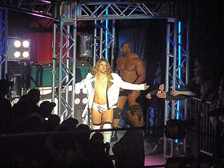 """The Brian Kendrick"" and Ezekiel Jackson in 2009 Brian Kendrick and Ezekiel.jpg"