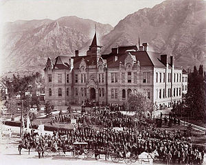 Mormonism in the 20th century - Brigham Young Academy building