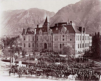 Brigham Young University - The Brigham Young Academy building circa 1900