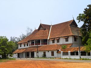 Architecture of Kerala - British Residency in Kollam - It is a splendid two-storeyed Palace built by Col. John Munro between 1811 and 1819. It is a blend of European-Indian-Tuscan architectural styles
