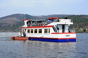 Brno, přehrada, U kotvy, loď Lipsko (03).jpg