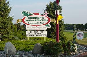 Bronner's Christmas Wonderland - Sign at the entrance to Christmas Lane.