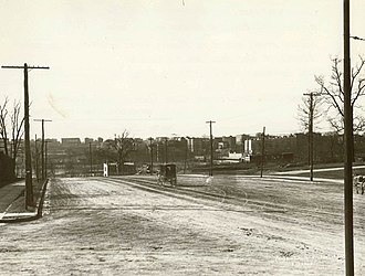 Grand Concourse (Bronx) - Intersection with 161st Street in 1900