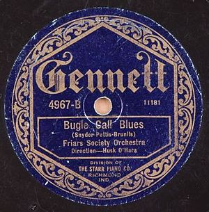 "Bugle Call Rag - Original 1922 release under the title ""Bugle Call Blues""."