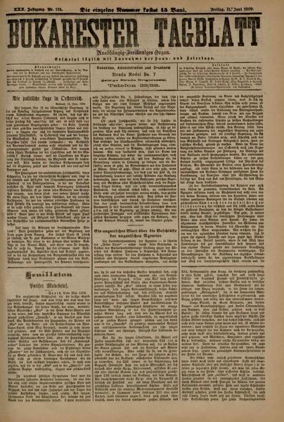 File:Bukarester Tagblatt 1909-06-11, nr. 126.pdf