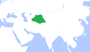 Khanate of Bukhara - The Khanate of Bukhara (green), c. 1600.