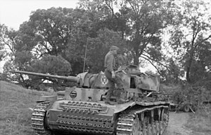 Operation Kutuzov - A Panzer III of the 2nd Panzer Division near Orel