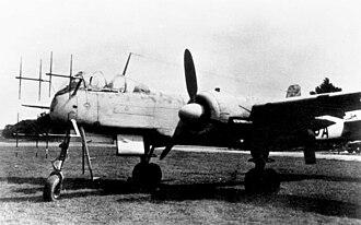 Heinkel He 219 - A production He 219A with Hirschgeweih VHF radar antennas
