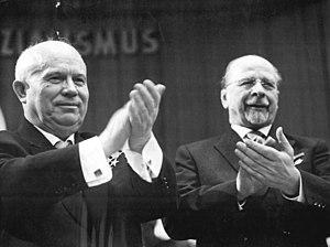 Walter Ulbricht - Ulbricht (right) with Khrushchev in 1963