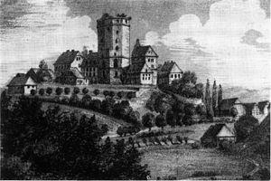 Adelebsen - Burg Adelebsen in a 19th-century rendering