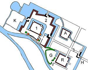 Ueda Castle - plan of Ueda Castle