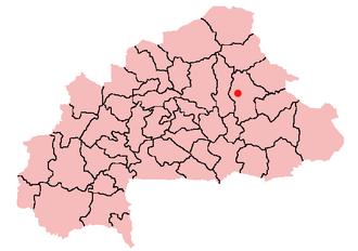 Bogandé - Location of Bogandé in Burkina Faso