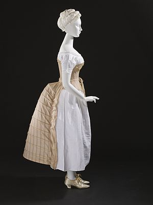 Bustle - Bustle, lady's undergarment, England, c. 1885.  Los Angeles County Museum of Art M.2007.211.399