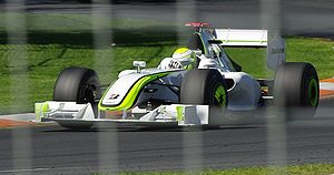 2009 Australian Grand Prix - The race was won by Jenson Button for Brawn GP on the team's Formula One début.