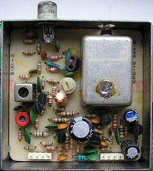RF modulator - RF modulator inside the Commodore 64 manufactured in 1984, PAL system