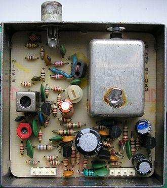 RF modulator - RF modulator inside the Commodore 64 manufactured in 1984, PAL system