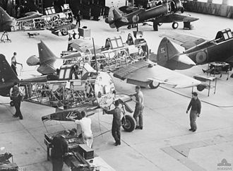 Commonwealth Aircraft Corporation - Wirraway aircraft under construction at a CAC factory in 1940