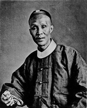 Cantonese people - A Cantonese gentleman in Qing-era traditional attire, circa 1873–1874.