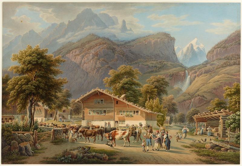 CH-NB - Meiringen, gegen die Reichenbachfälle, Aelplerleben - Collection Gugelmann - GS-GUGE-LORY-A-0-1
