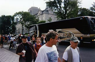 CHOI-FM - Demonstration at the Quebec Parliament Building on July 22, 2004