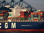 CMA CGM Laperouse (ship, 2010), Deurganckdok, Port of Antwerp, Belgium, pic6.JPG