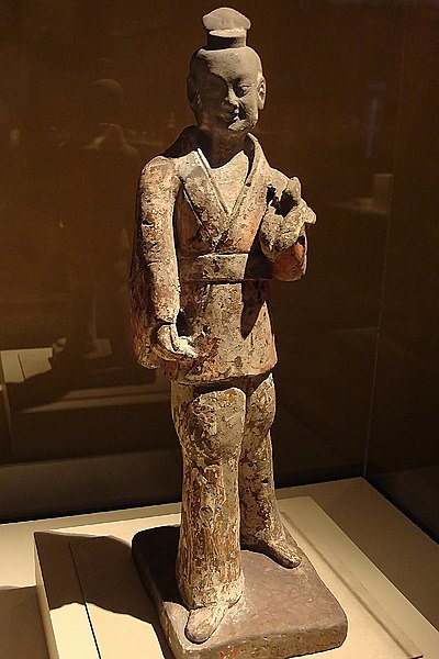 File:CMOC Treasures of Ancient China exhibit - painted figure of an officer.jpg