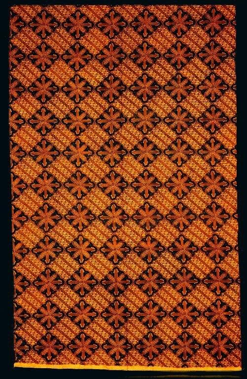 COLLECTIE TROPENMUSEUM Katoenen wikkelrok met geometrisch patroon TMnr 5713-2