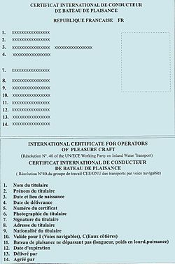 Pleasure craft licence form impossible