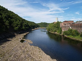 Turners Falls, Massachusetts - View of Connecticut River at Turners Falls (the right bank)
