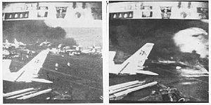 VA-46 (U.S. Navy) - VA-46 A-4Es burst into flames on 29 July 1967 aboard USS Forrestal.
