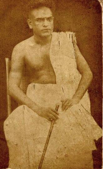 C. V. Raman Pillai - CV as a young man