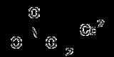 Skeletal formula of cadmium chloride
