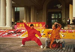 Choy gar - Choy Gar being performed at an international event authorized by Chinese Wushu Association.
