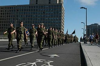 The Cameron Highlanders of Ottawa (Duke of Edinburgh's Own) - The Cameron Highlanders of Ottawa on parade, 11 September 2004