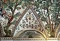 Camillo mantovano, volta della sala a fogliami di palazzo grimani, 1560-65 ca., lunette con grottesche e rebus allusivi al processo per eresia di giovanni grimani 02.jpg