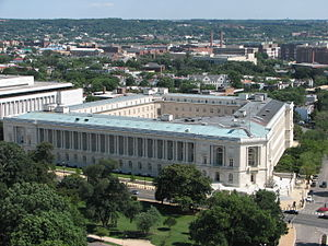Cannon House Office Building - View of building from Capitol dome