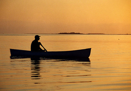 Canoeist in Belize at dawn.jpg