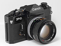 Canon F-1 with 50mm f-1.4 FD S.S.C. lens (5629789106).jpg