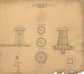Cape Capricorn Light - 1874 plans for the first lighthouse