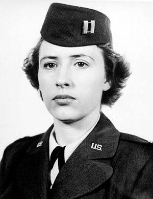 Jeanne M. Holm - Captain Holm, company commander, 1948