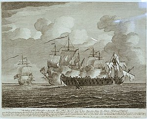 Action of 8 April 1740 - The action from an engraving of a work by Peter Monamy