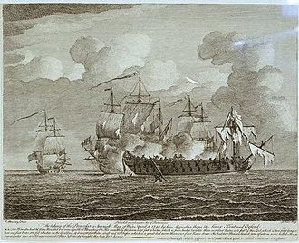HMS Princess (1740) - Image: Capture of Princesa